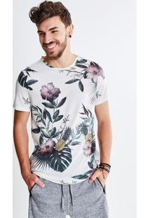 Camiseta Estampa Tropical