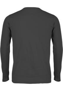 Camiseta Versatti Manga Longa Fram Preto