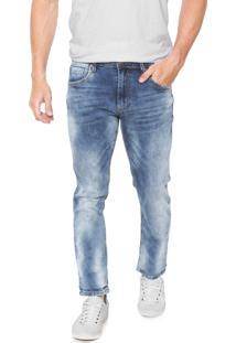 Calça Jeans Crocker Slim Acid Azul