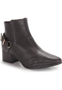 Ankle Boots Feminina Ramarim - Cafe