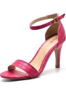 Sandália Flor Da Pele Croco Pink