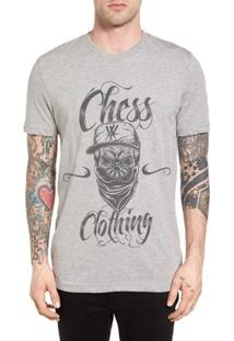 Camiseta Chess Clothing Cinza Mescla - Masculino-Cinza