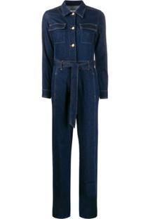Frame Macacão Jeans Pantalona - Azul