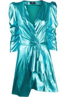 Elisabetta Franchi Vestido Envelope Mini - Azul