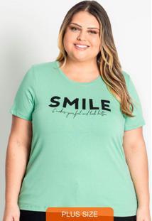 Blusa Feminina Smile Verde