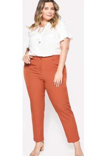 Calça Almaria Plus Size Pianeta Skinny Vermelho