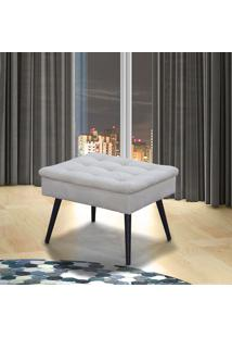Puff Decorativo Quadrado Matrix Conforto Suede Pena Bege