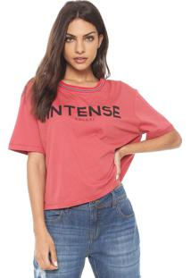 Camiseta Colcci Intense Vermelha