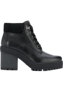 Hogan Ankle Boot H475 Com Alto - Preto