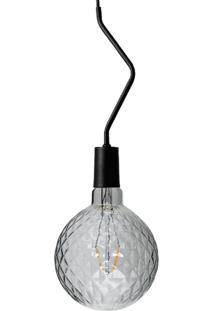 Pendente Preto Com Lâmpada Decorativa Filamento Led Figo G125 Sl2793 Toplux - Kanui