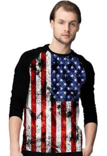 Camiseta Manga Longa Stompy Flag Masculina - Masculino