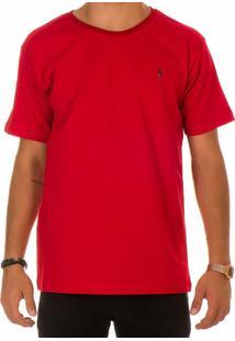 Camiseta Lisa Arara Polo Blu Vermelha
