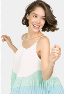 Blusa Com Alças Plissada Verde Inspire - Lez A Lez