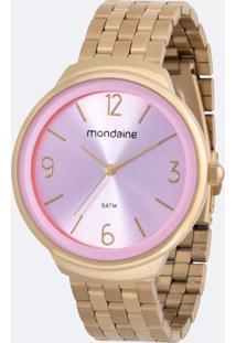 Kit Relógio Feminino Mondaine 53692Lpmgde1K Analógico 5Atm + Conjunto Semijóia