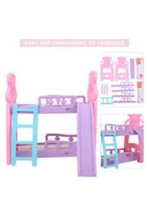 Cama, Cama Em Miniatura Para Crianças, Kit De Casa De Boneca Colorida Faça Você Mesmo, Decoração Para Casa Para Crianças Presente De Aniversário