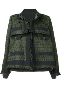 Sacai Woven Overshirt Jacket - Verde