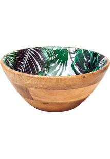 Saladeira Leafage Folhagem- Marrom & Verde- 11Xã˜25Cmbon Gourmet