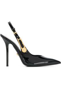 Versace Sapato Com Alfinetes - Preto