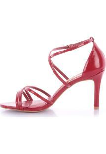 Sandália Gleise 1063-80890 Verniz Vermelho (Marmore Rubi) Vermelho