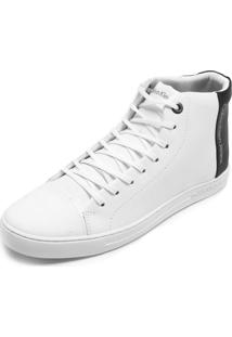Tênis Couro Calvin Klein Recortes Branco