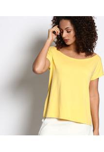 Blusa Ampla Lisa - Amarelo Claro - Malweemalwee