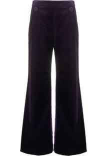 Temperley London Calça Pantalona Esmeralda Roxa - Roxo