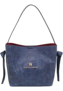 Bolsa Couro Tiracolo Lagarto Navy - 73059.18 - Feminino-Azul