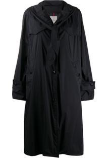 Moncler Trench Coat Vanille Oversized Matelassê - Preto