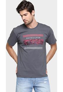 Camiseta Quiksilver Básica Stringer Snowcheck - Masculino
