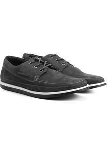 Sider Couro Shoestock Solado Bicolor Masculino - Masculino-Cinza