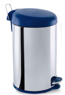 Lixeira Inox C/Pedal 12L Brinox Azul