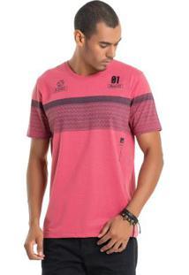Camiseta Com Bordado Rosa Bgo