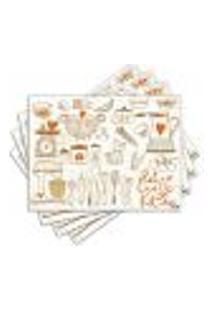 Jogo Americano - Kitchen Retro Com 4 Peças - 316Jo