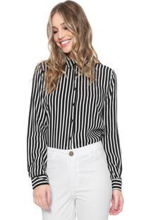 Camisa Facinelli By Mooncity Listrada Preta