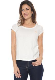 Camiseta Polo Wear Básica Off-White