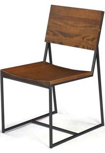 Cadeira York Metal Grafite Rustic Brown 83 Cm (Alt) - 38542 - Sun House