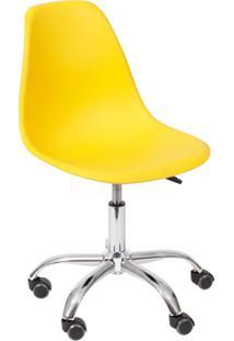 Cadeira Dkr Com Rodízios Amarela