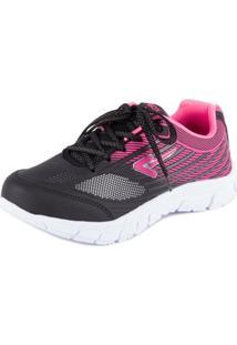 Tênis Running - Box 200 - Feminino-Preto+Pink