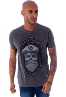 Camiseta Bossa Decote Canoa To Hell Preto