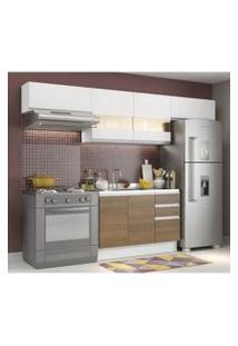 Cozinha Compacta Madesa Marina 3 Gavetas Branco/Rustic/Branco