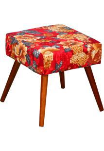 Puff Decorativo Lyam Decor Lívia Vermelho Estampado
