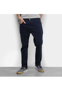 Calça Sarja Ellus Color Light Confort Masculina - Masculino-Azul Escuro