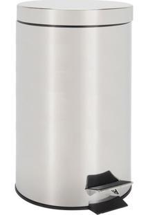 Lixeira Le Shine Inox Prata 12L 25X39,5Cm