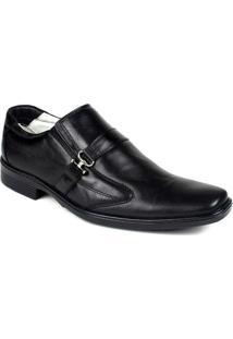 Sapato Confortável Ranster Couro Palmilha Gel Ranster - Masculino-Preto