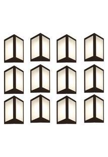 Arandela Triangular Marrom Kit Com 12 Casah