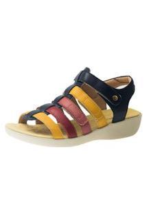 Sandalia Casual Doctor Shoes 105 Marinho