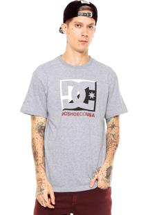 Camiseta Dc Shoes Cross Star Cinza