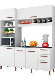 Cozinha Compacta Cacau Branco Móveis Albatroz