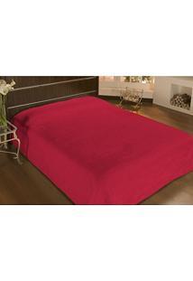 Cobertor Casal Microfibra Liso 2,20X1,80M Vermelho - Camesa