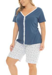 Pijama Curto Aberto Taurus (17000) Plus Size